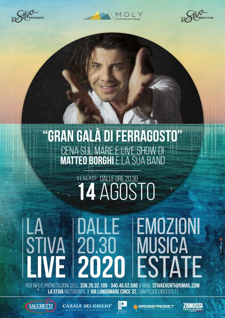 """La Stiva LIVE presenta: """"GRAN GALA' DI FERRAGOSTO"""" con MATTEO BORGHI"""