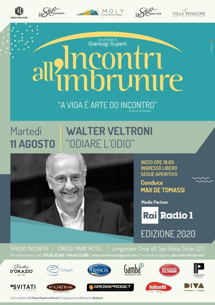INCONTRI ALL'IMBRUNIRE PRESENTA WALTER VELTRONI