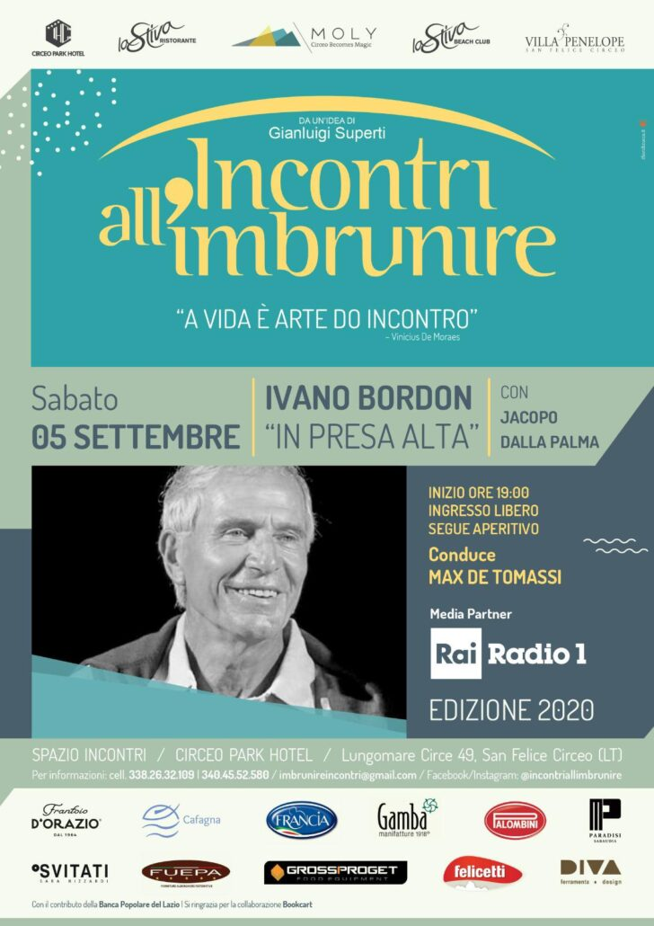 INCONTRI ALL'IMBRUNIRE presenta IVANO BORDON